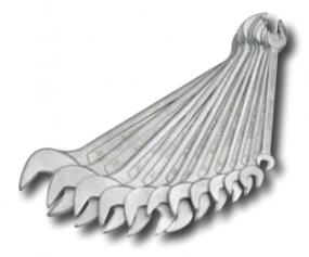 EF Doppelmaulschlüsselsatz 6 - 32, 10-teilig