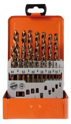 Spiralbohrerkassette HSS-Co DIN 338 1-10mm 19-tlg.