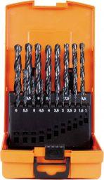 Spiralbohrerkassette HSS-R DIN338 N 1-10mm 19-tlg.